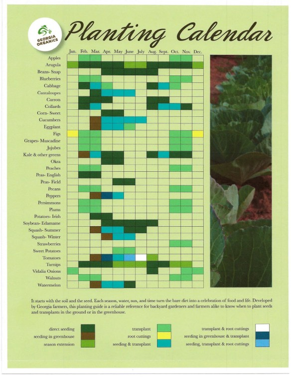Georgia Organics Garden Calendar